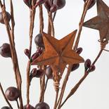 Burgundy Pip Berry and Star Spray