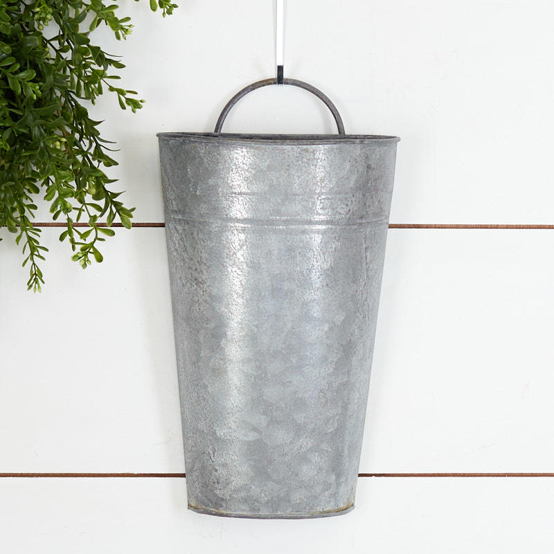 Factory Direct Craft Weathered Tin Wall Pocket