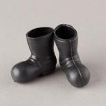 Miniature Black Santa Boots