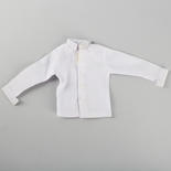 Miniature White Long Sleeve Doll Shirt - Vintage Find