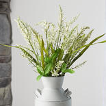 Artificial Cream Heather Grass Bush