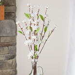 Cream and White Artificial Blossom Bush