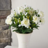 Cream and White Artificial Carnation Bush