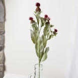 Burgundy Artificial Thistle Stem