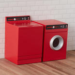 Dollhouse Miniature Red Washer and Dryer Set