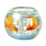 Dollhouse Miniature Goldfish in Bowl
