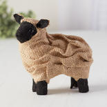 Small Standing Burlap Sheep