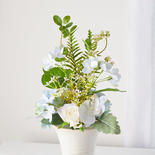 Blue Artificial Hydrangea Bouquet