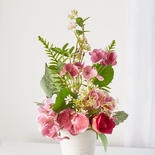 Burgundy and Pink Artificial Hydrangea Bouquet