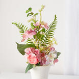 Peach Pink and White Artificial Hydrangea Bouquet