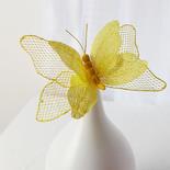 Yellow Burlap Butterfly Stem