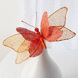 Orange Burlap Butterfly Stem