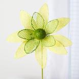 Yellow and Green Burlap Daisy Stem