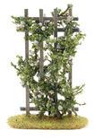 Miniature Flocked White Roses on a Trellis
