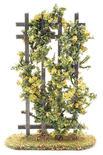 Miniature Flocked Yellow Roses on a Trellis