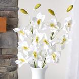 Artificial White Cymbidium Orchid Stems