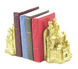 Dollhouse Miniature Castle Bookends with Books