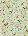 Dollhouse Miniature- Wallpaper Sheets, Country Springtime, Green