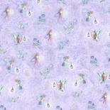 Dollhouse Miniature Wallpaper Sheets, Fairies, Lilac