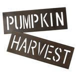 Set of Rustic Metal Cutout Autumn Signs