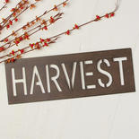 Rustic Metal Harvest Cutout Sign