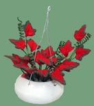 Dollhouse Miniature Red Coleus Hanging Plant
