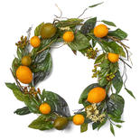 Artificial Lemon and Lime Wreath