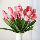 Artificial Pink Tulip and Onion Grass Stems