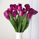 Artificial Purple Tulip and Onion Grass Stems