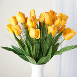 Artificial Yellow Tulip and Onion Grass Stems