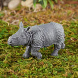 Papo Mini Realistic Indian Rhinoceros Calf Figurine