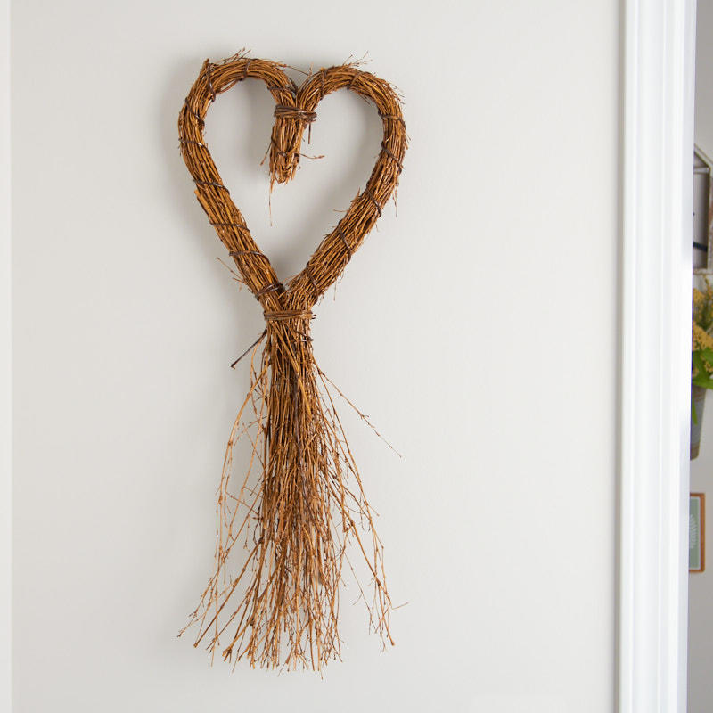 Heart Shaped Grapevine Wall Decor Natural Grapevine Floral Supplies Craft Supplies Factory Direct Craft