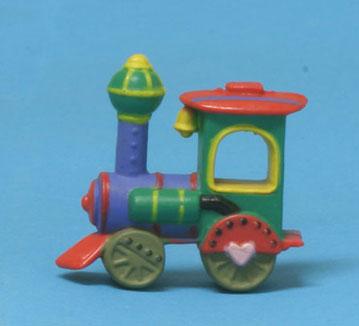 Dollhouse Miniature Children/'s Colorful Toy Train Locomotive CARF6473