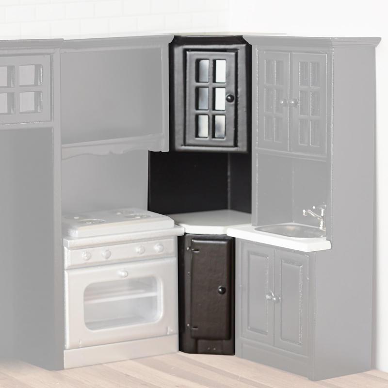 Dollhouse Miniature Corner Cabinet - Kitchen Miniatures ...
