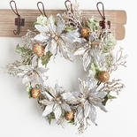 Silver Glittered Twig and Fruit Wreath