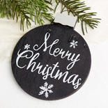 """Wooden """"Merry Christmas"""" Ornament"""