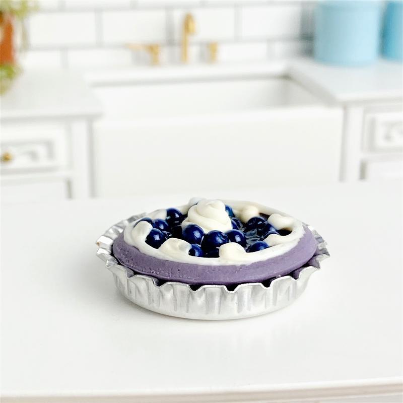 Miniature Dollhouse FAIRY GARDEN Accessories ~ Blueberry Pie ~ NEW