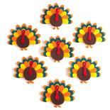 Layered Felt Turkey Stickers