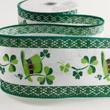 St Patrick's Day Wired Ribbon